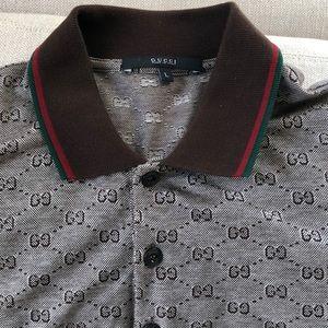 Men's VINTAGE authentic Gucci monogram polo L